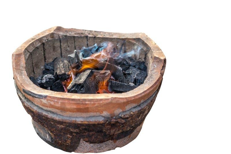 Плита угля, варя стиль инструмента тайский традиционный стоковые изображения rf