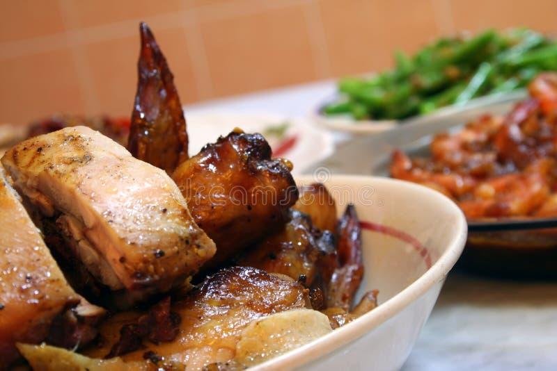 плита цыпленка стоковое изображение rf