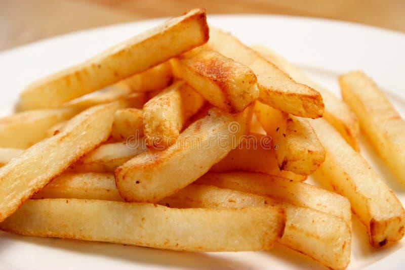 Плита fries от стороны стоковое изображение