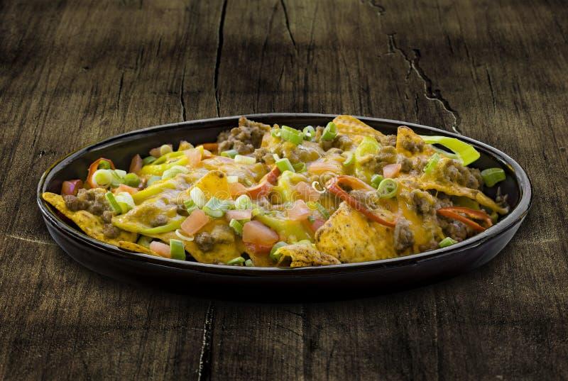 Плита nachos стоковое фото rf