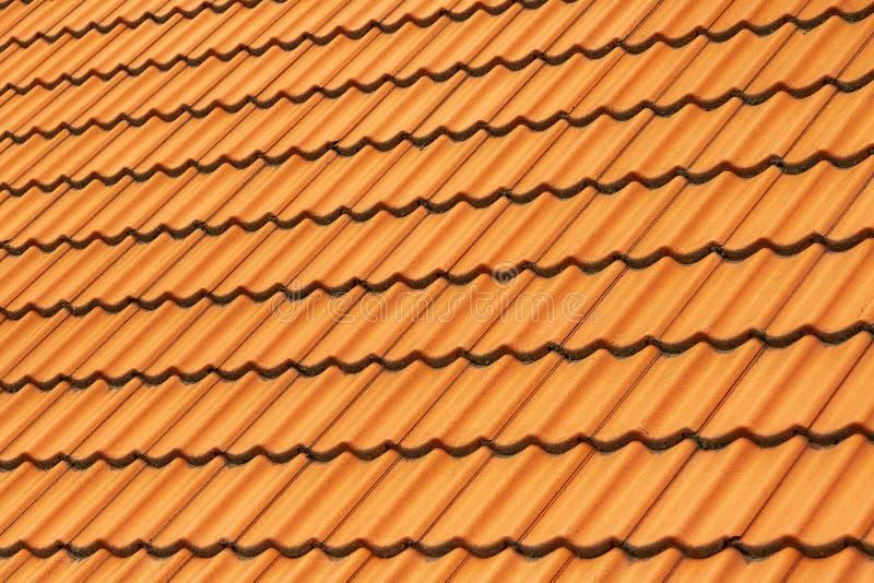 Плитка глины на крыше стоковое изображение rf