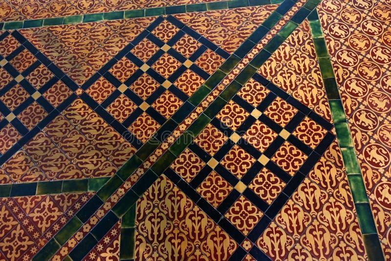Плитка дома главы собора Солсбери стоковые фотографии rf