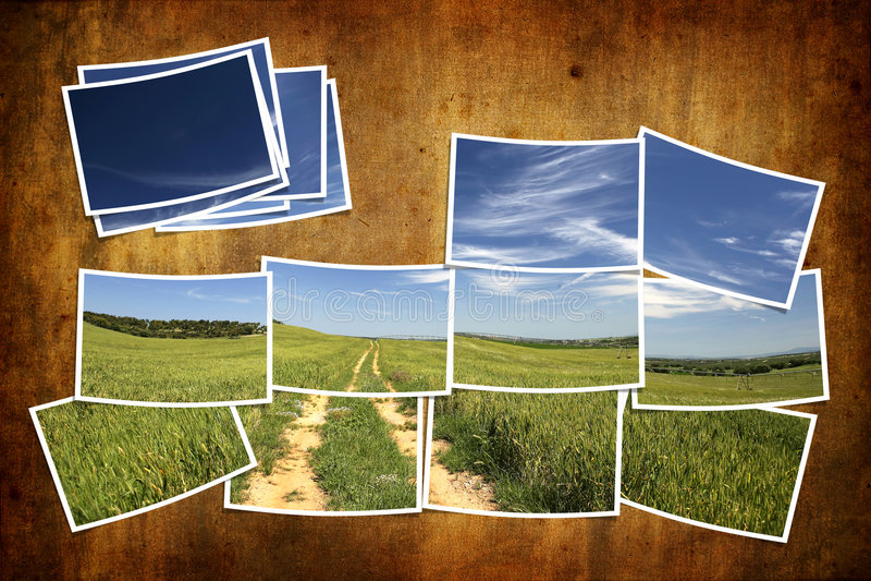 плитка лета открытки ландшафта иллюстрация штока