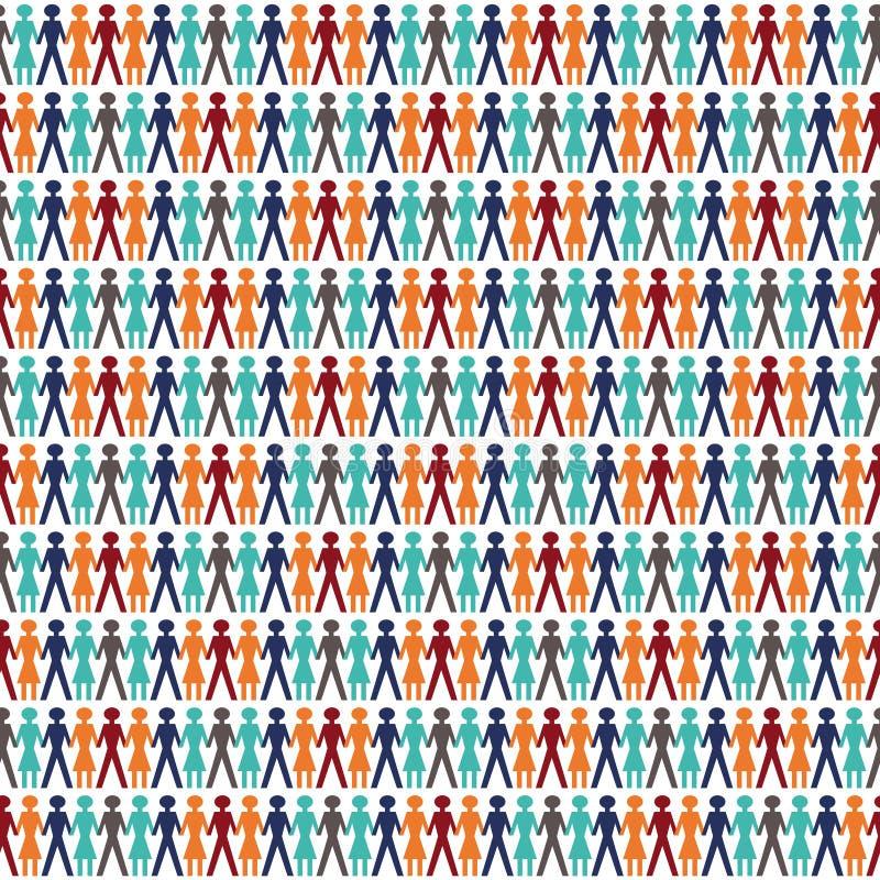 плитка людей иллюстрация вектора