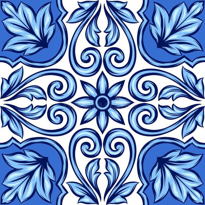 Плитка португальского azulejo керамическая иллюстрация штока