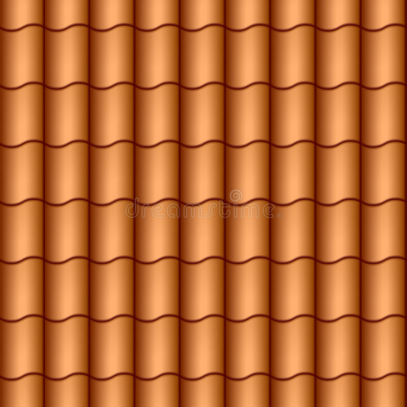 плитки крыши безшовные иллюстрация штока