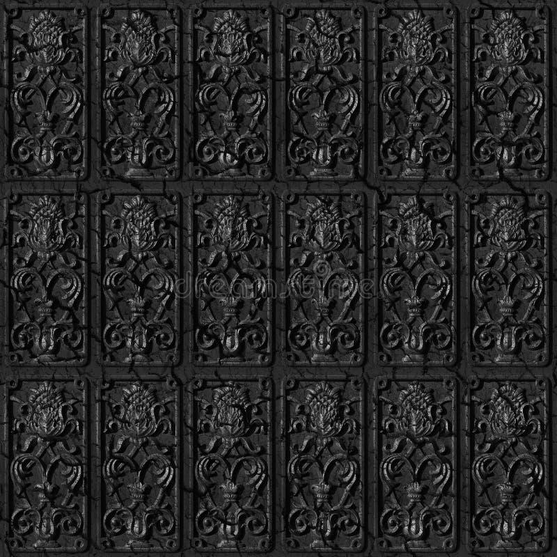плитки металла предпосылки безшовные иллюстрация вектора