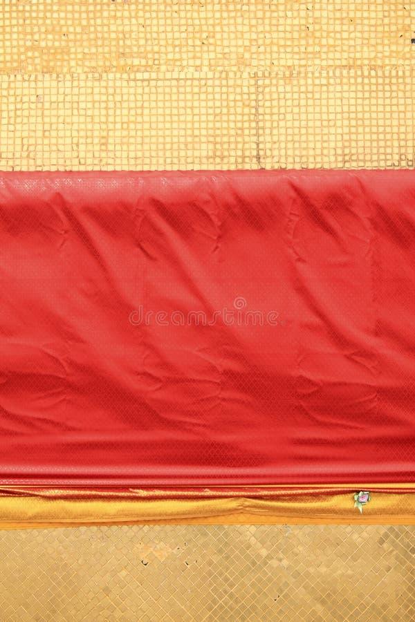 плитки орденской ленты предпосылки золотистые красные стоковая фотография