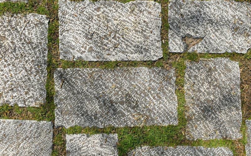 Плитки пакостного замка террасы гранита снаружи старого средневековые стоковые фотографии rf