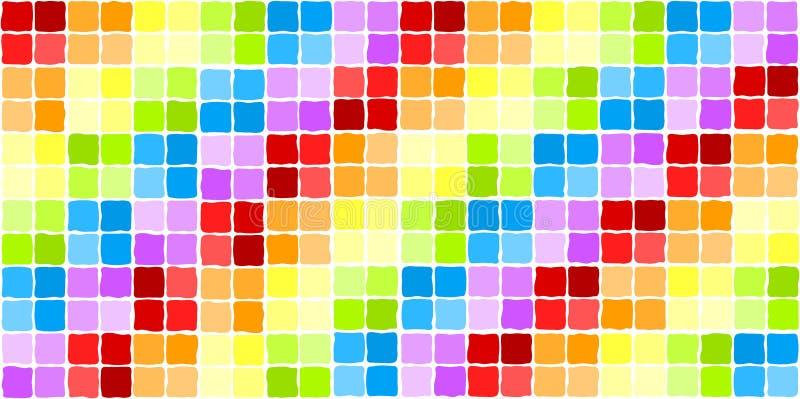 плитки радуги мозаики безшовные бесплатная иллюстрация