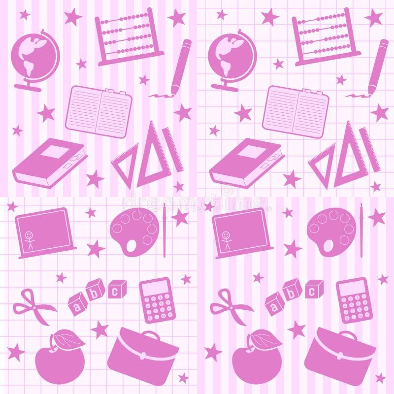 плитки школы девушки безшовные бесплатная иллюстрация