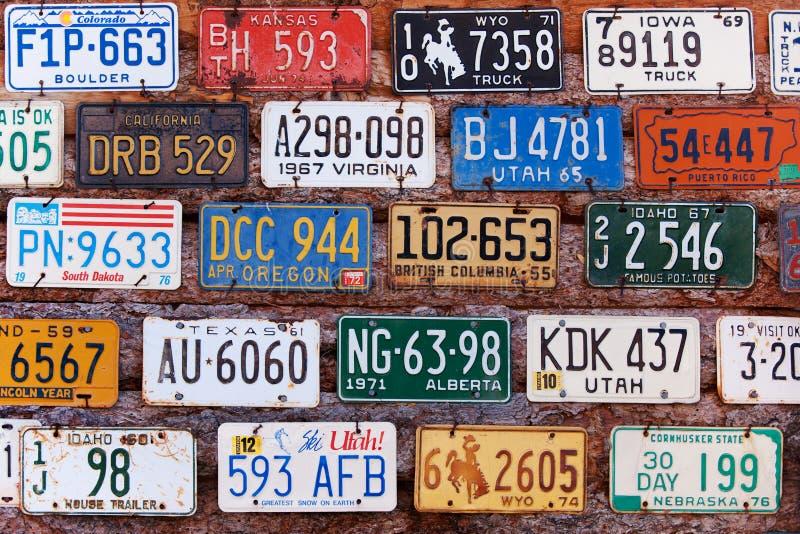плиты лицензии старые стоковые фото