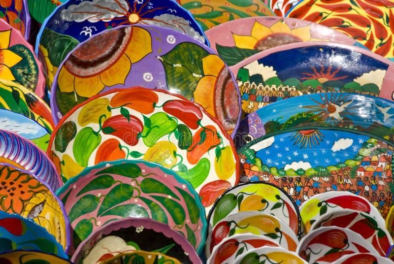 плиты мексиканца искусства стоковые фотографии rf