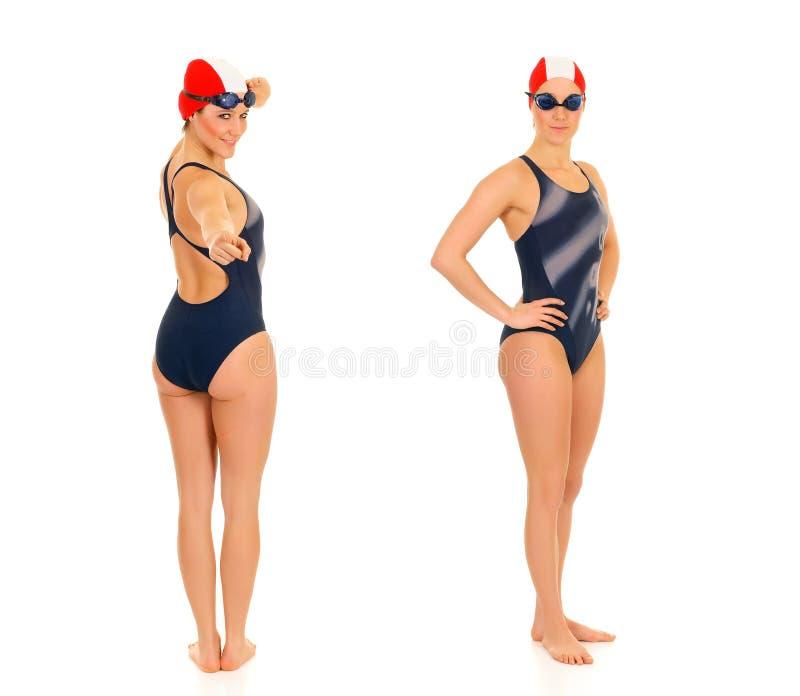 пловец женщины спортсмена стоковое изображение rf