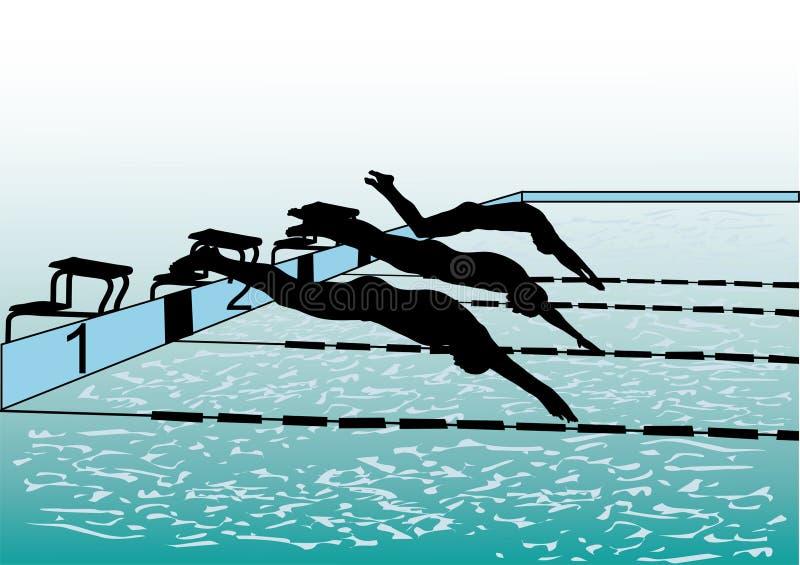 пловцы иллюстрация штока