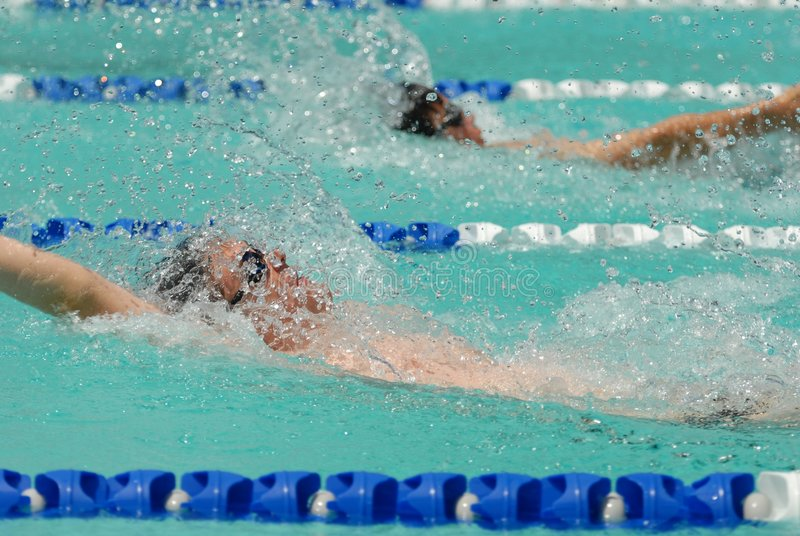 пловцы backstroke стоковые фото