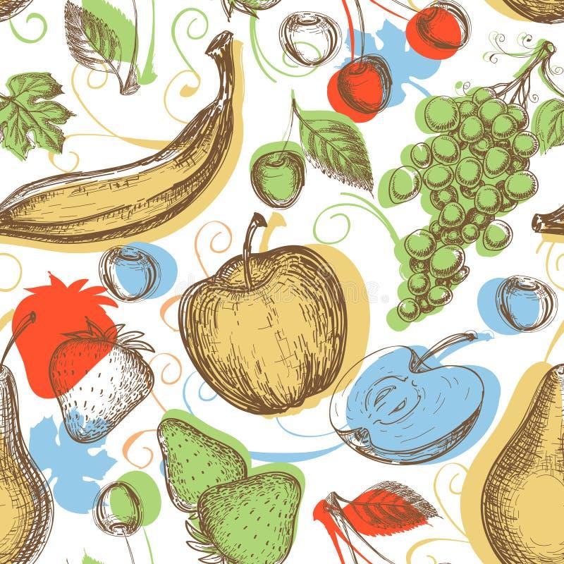 плодоовощи делают по образцу безшовное бесплатная иллюстрация