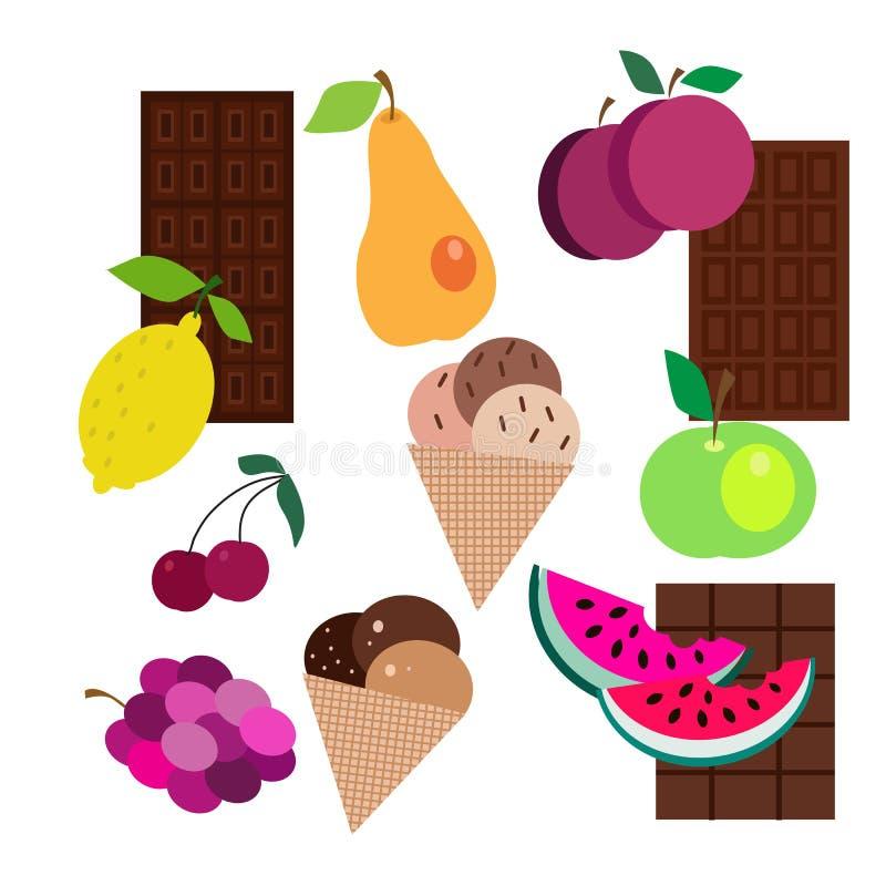 Плодоовощи и sweets2 иллюстрация штока