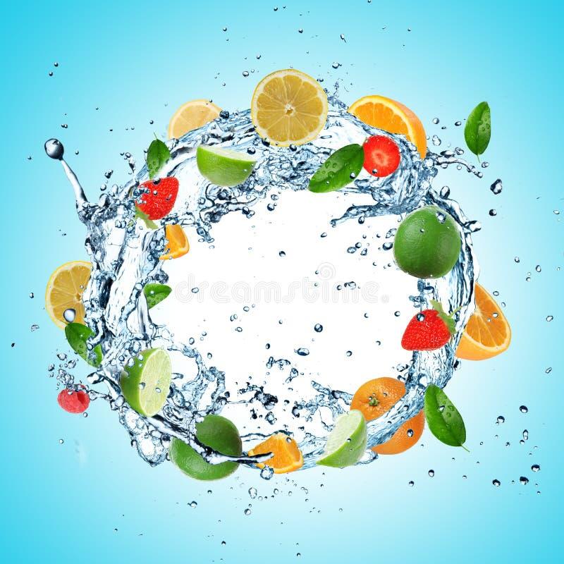 Плодоовощ в колесе воды стоковые изображения rf