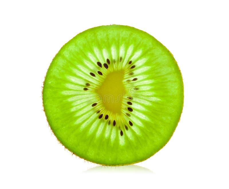 Плодоовощ кивиа куска изолированный на белой предпосылке стоковая фотография rf
