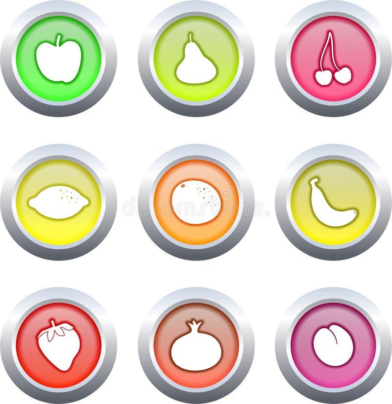 плодоовощ кнопок иллюстрация вектора