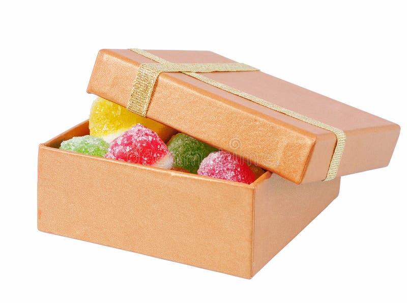 плодоовощ конфеты коробки стоковое фото rf