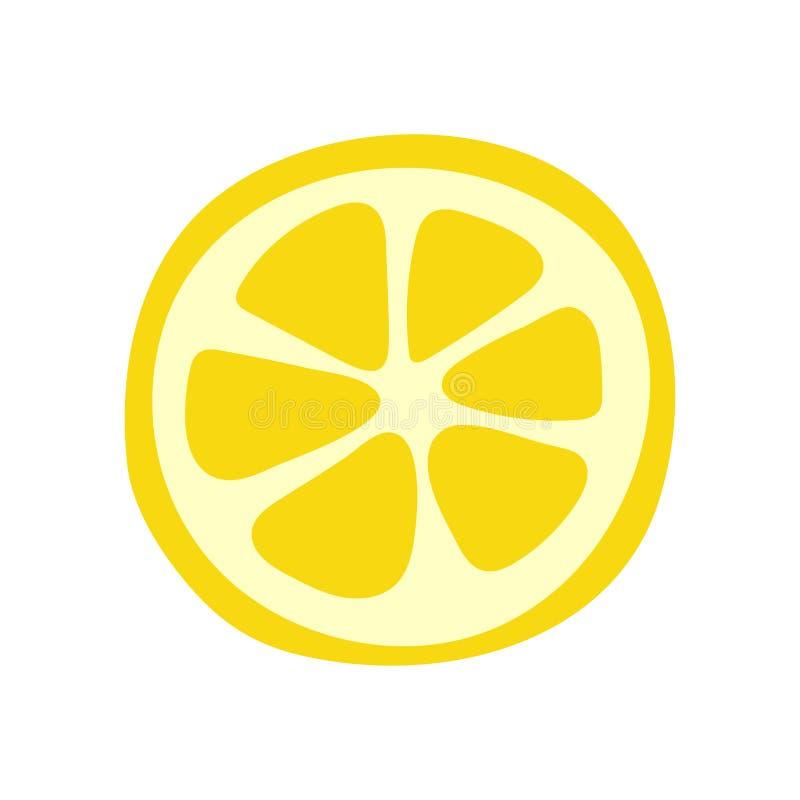 Плод лимона Желтый цитрус Эскиз вектора doodle руки вычерченный r бесплатная иллюстрация