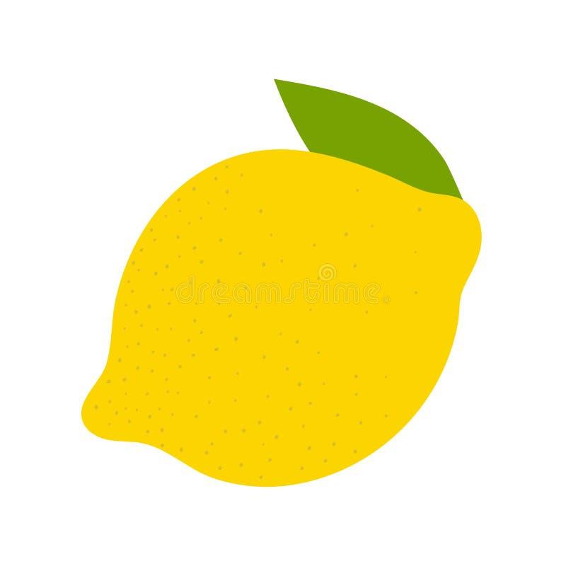 Плод лимона Желтый цитрус Эскиз вектора doodle руки вычерченный r иллюстрация штока