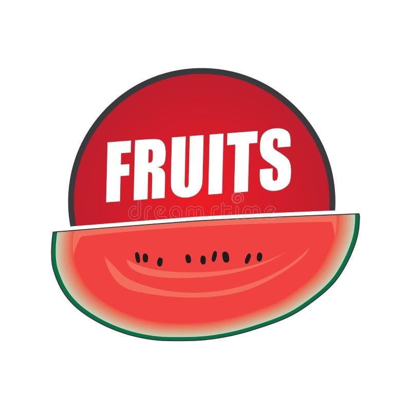 Плод логотипа, натуральный продучт и здоровая еда иллюстрация штока