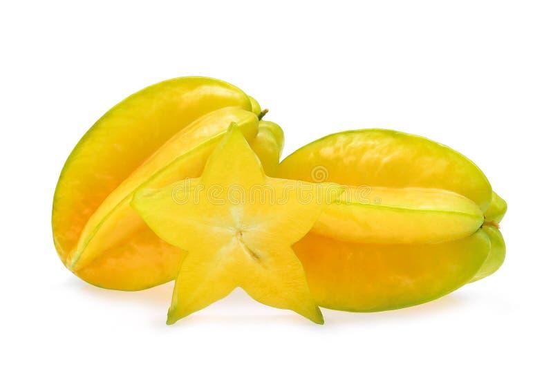 Плод яблока звезды изолированный на белизне стоковые фото
