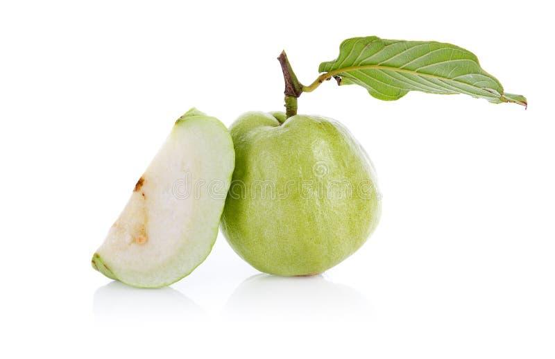 Плод Guava изолированный на белой предпосылке стоковые изображения rf