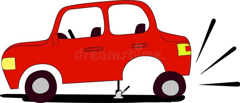 плоская автошина стоковая фотография rf