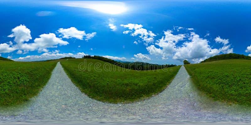 Плоская верхняя гора, дуя утес NC в 360 VR -2 стоковые фотографии rf
