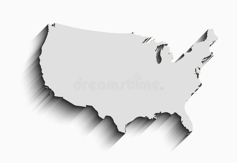 Плоская карта США абстрактная предпосылка вектора для обоев, знамени Идея проекта ясно шаблон иллюстрация штока