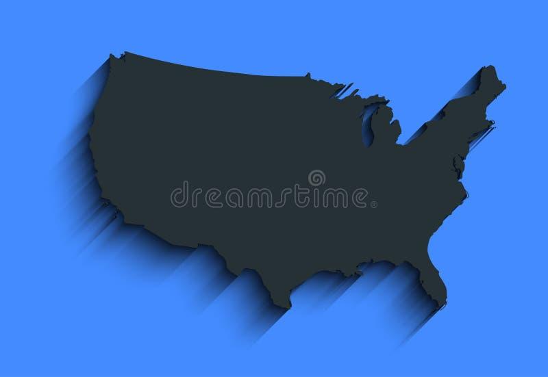 Плоская карта США абстрактная предпосылка вектора для обоев, знамени Идея проекта ясно шаблон иллюстрация вектора