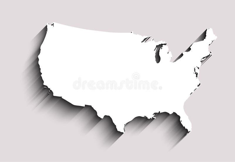 Плоская карта США абстрактная предпосылка вектора для обоев, знамени Идея проекта ясно шаблон бесплатная иллюстрация