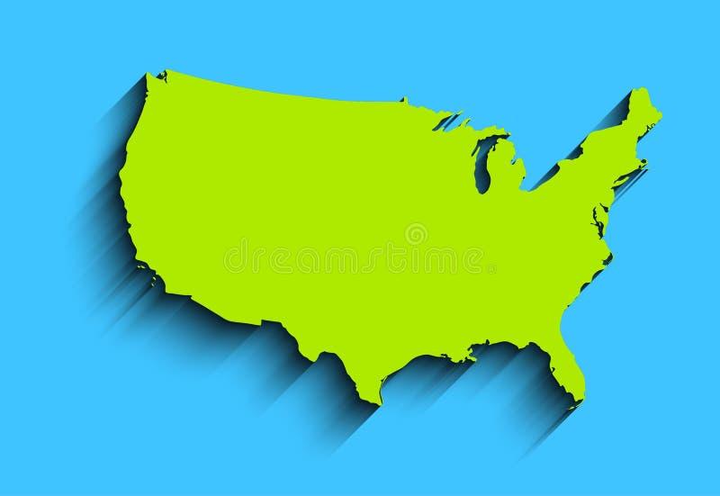 Плоская карта США абстрактная предпосылка для обоев, знамени Идея проекта ясно шаблон иллюстрация вектора