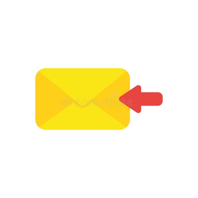 Плоская концепция вектора дизайна получает сообщение или посылает по электронной почте с enve бесплатная иллюстрация