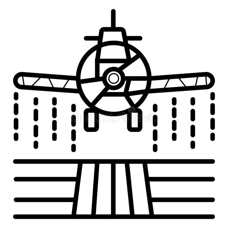 Плоские брызги, сельское хозяйство и земледелие, опылитель полей фермы иллюстрация штока