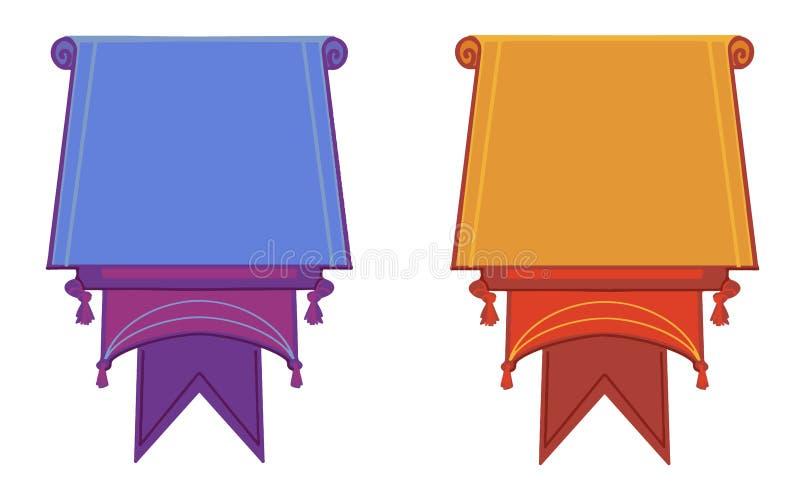 Плоские знамена вектора плоско изолированные на белой предпосылке бесплатная иллюстрация