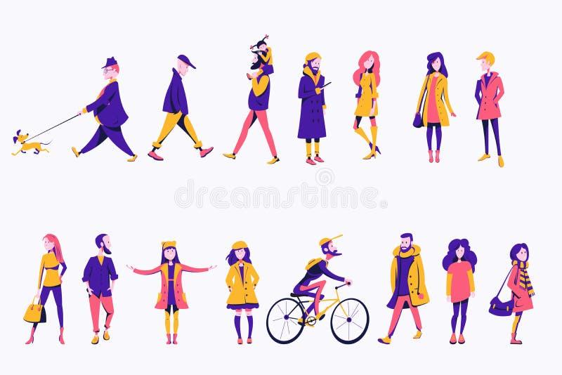 Плоские характеры бесплатная иллюстрация