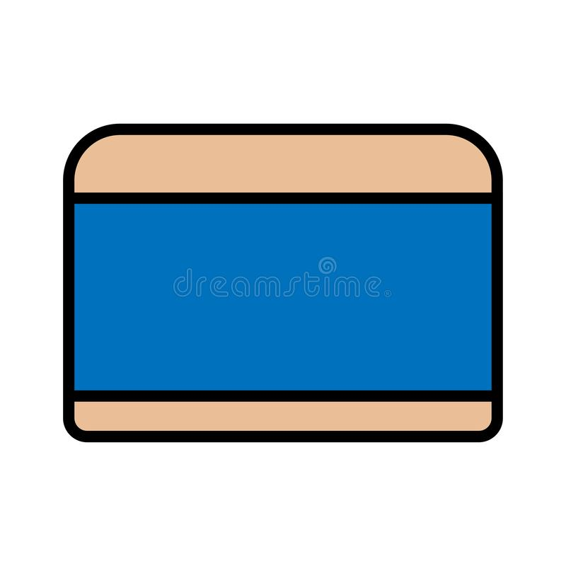 Плоский бежевый значок опарник простых линейных блестящих косметик круглый со сливк руки для ног стороны и для moisturizing иллюстрация штока