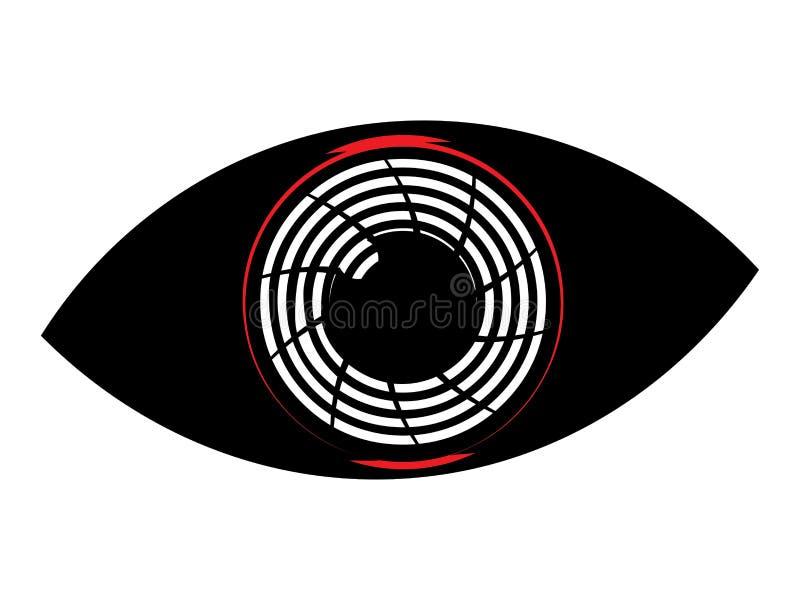 Плоский глаз киборга бесплатная иллюстрация