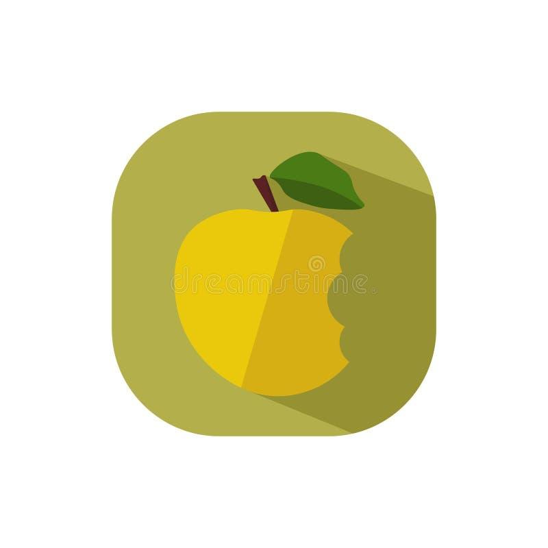 Плоский дизайн желтое сдержанное Яблоко бесплатная иллюстрация