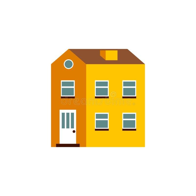 Плоский дом шаржа иллюстрация вектора