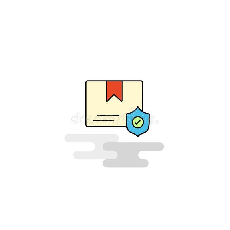 Плоский защищенный значок документа вектор иллюстрация вектора