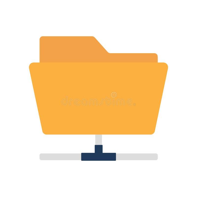 Плоский значок деля папку иллюстрация вектора