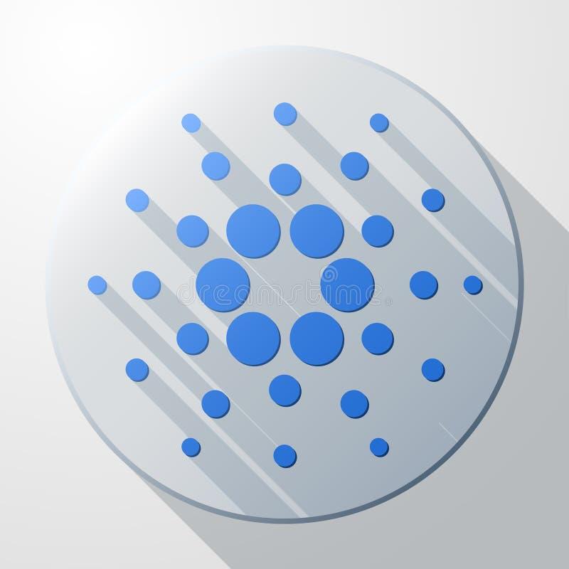 Плоский значок знака cryptocurrency Cardano бесплатная иллюстрация