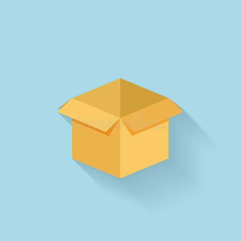 Плоский значок коробки для сети иллюстрация штока