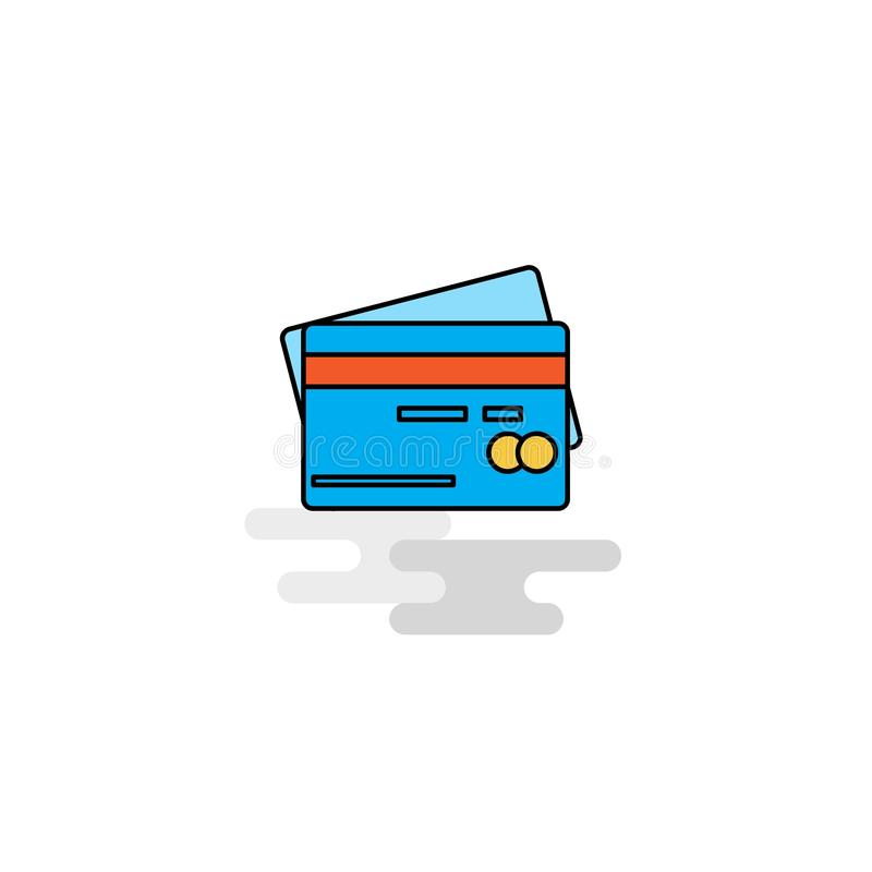 Плоский значок кредитной карточки вектор иллюстрация вектора